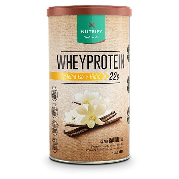 Whey-Protein-Isolado-e-Hidrolisado---450g---Nutrify-Whey-protein-1-Baunilha