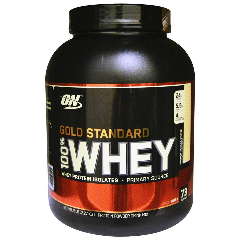 a6e0af12e 100% Whey Protein Gold Standard - 5lbs (2.270kg) - Optimum Nutrition ...