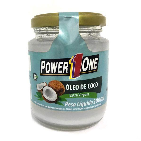 Oleo-de-Coco-Extra-Virgem---200ml---Power-One-Oleo-de-coco-power-one-200ml