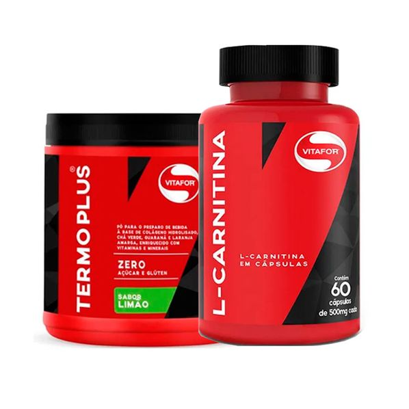Termo-Plus---L-Carnitina-Vitafor---Kit-Perda-de-Peso