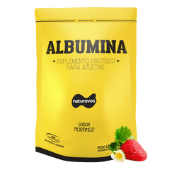albumina-morango